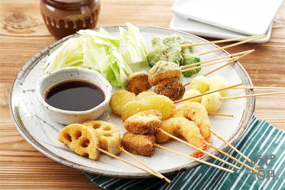 串かつ(豚ヒレ肉+えびを使ったレシピ)