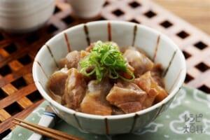 どて焼き(牛スジ肉+こんにゃくを使ったレシピ)