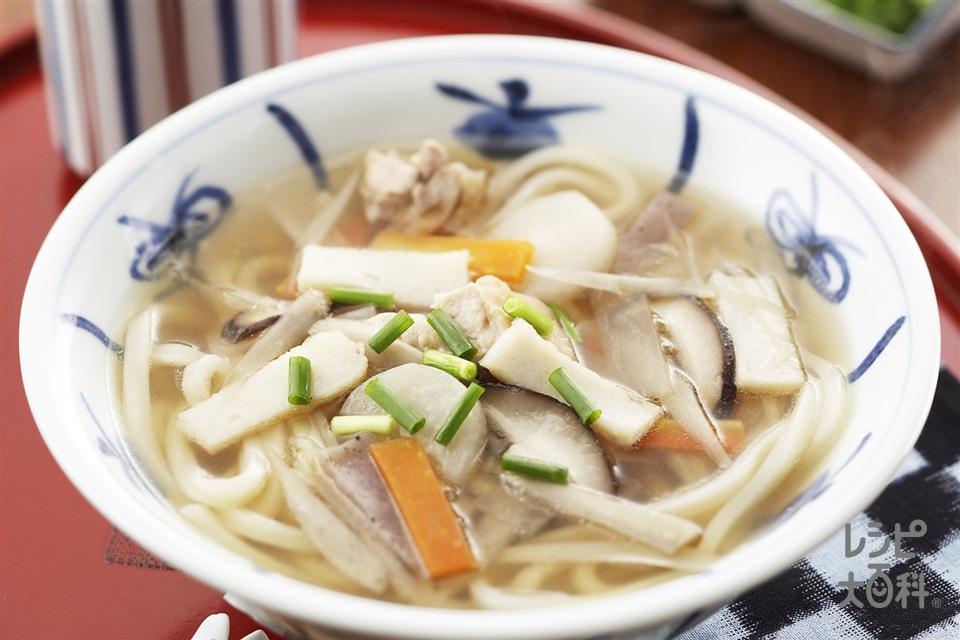 讃岐うどん(しっぽくうどん)(冷凍うどん+鶏もも肉を使ったレシピ)