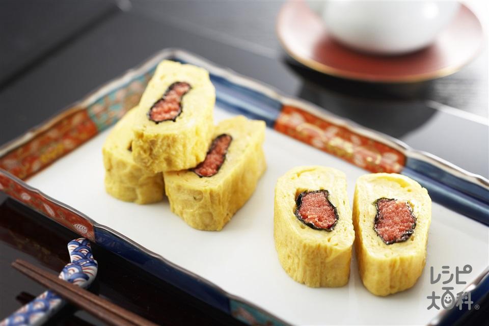 明太卵焼き(卵+からし明太子を使ったレシピ)