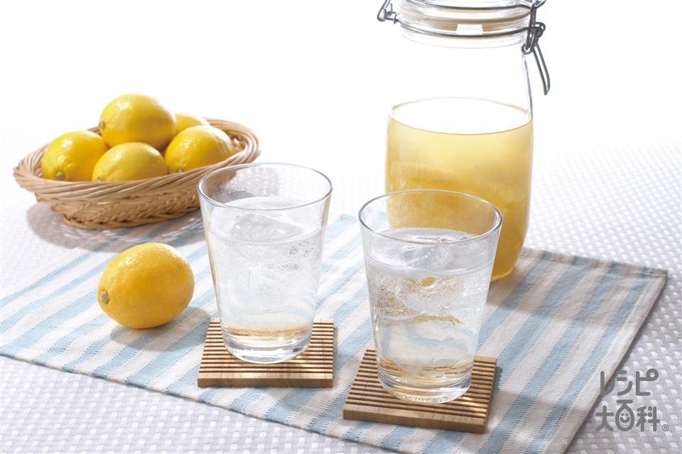 ヘルシーレモンサワードリンク(レモン+「パルスイート」を使ったレシピ)