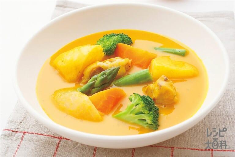 たっぷり野菜のかぼちゃシチュー