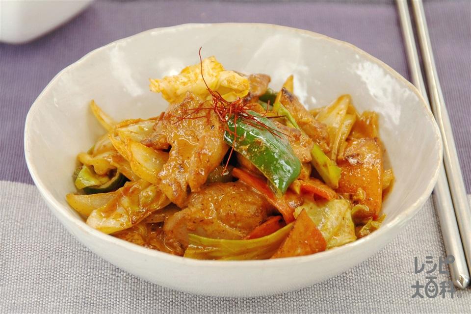タッカルビマヨ(鶏もも肉+キャベツを使ったレシピ)