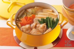 水炊き中華鍋(鶏もも肉+白菜を使ったレシピ)