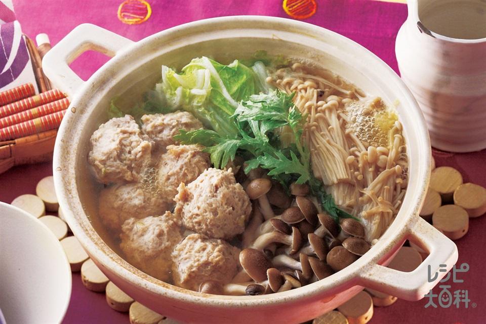 鶏だんご鍋(鶏ひき肉+白菜を使ったレシピ)