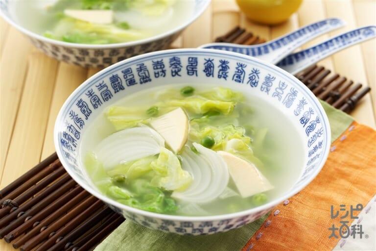 春野菜の中華スープ