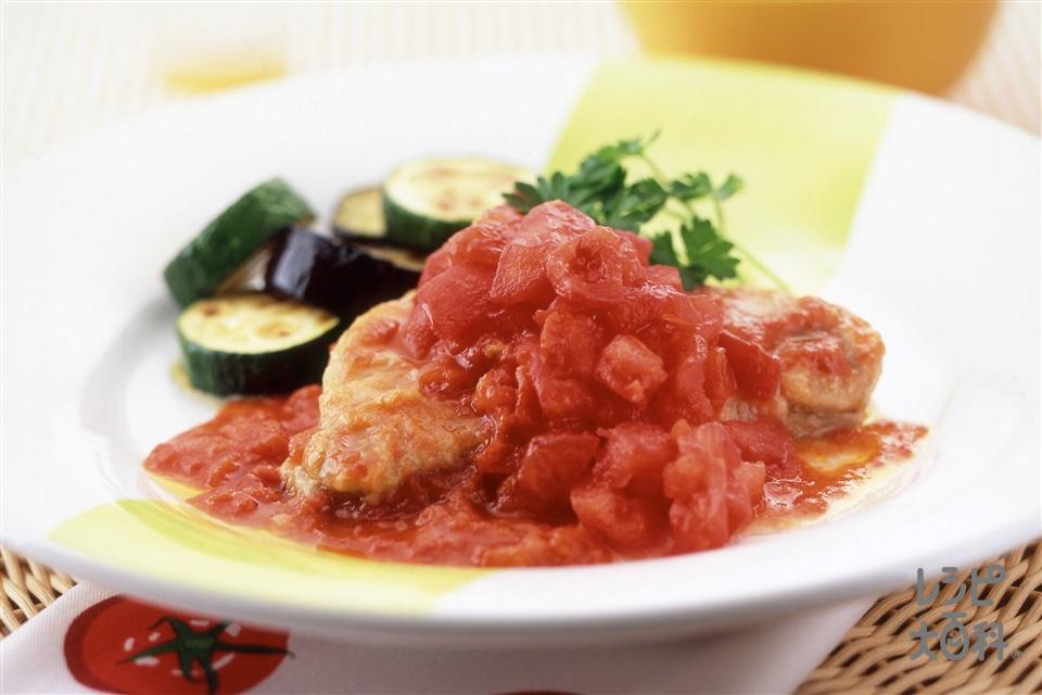 ポークソテーのトマト煮