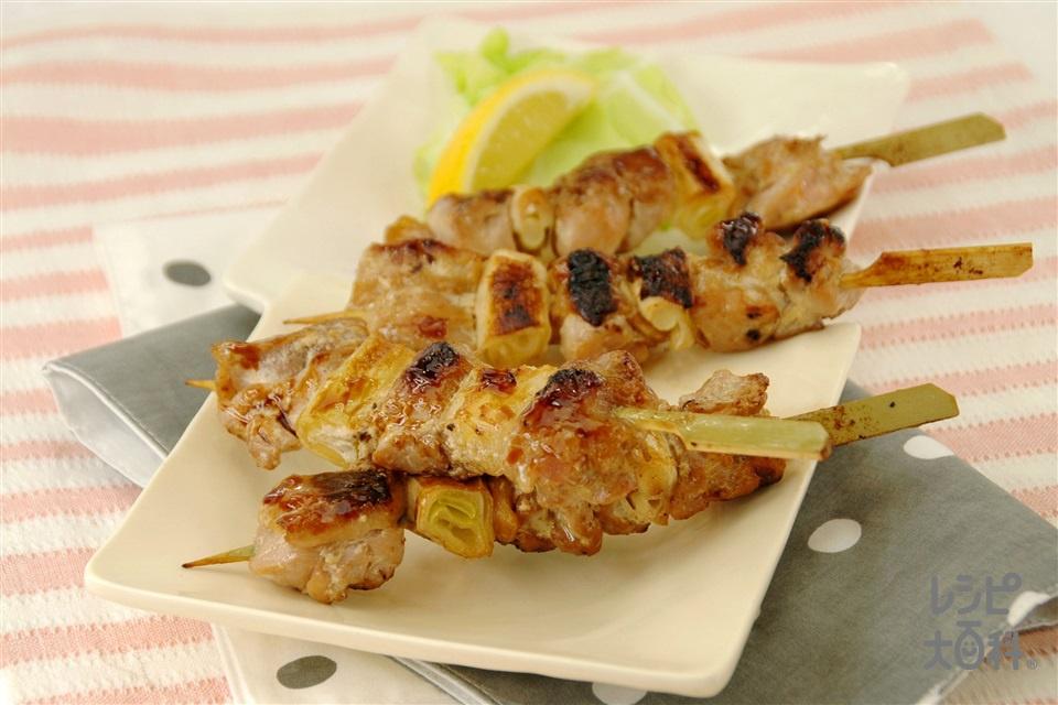 「コクうま」焼き鳥(鶏もも肉+ねぎを使ったレシピ)