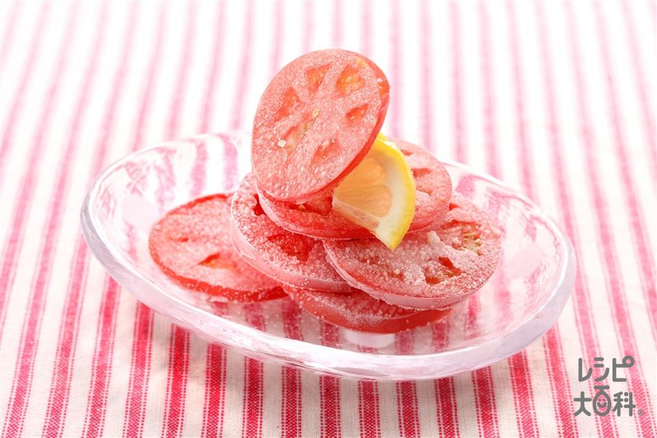ガリガリフローズントマト(トマト+レモン果汁を使ったレシピ)