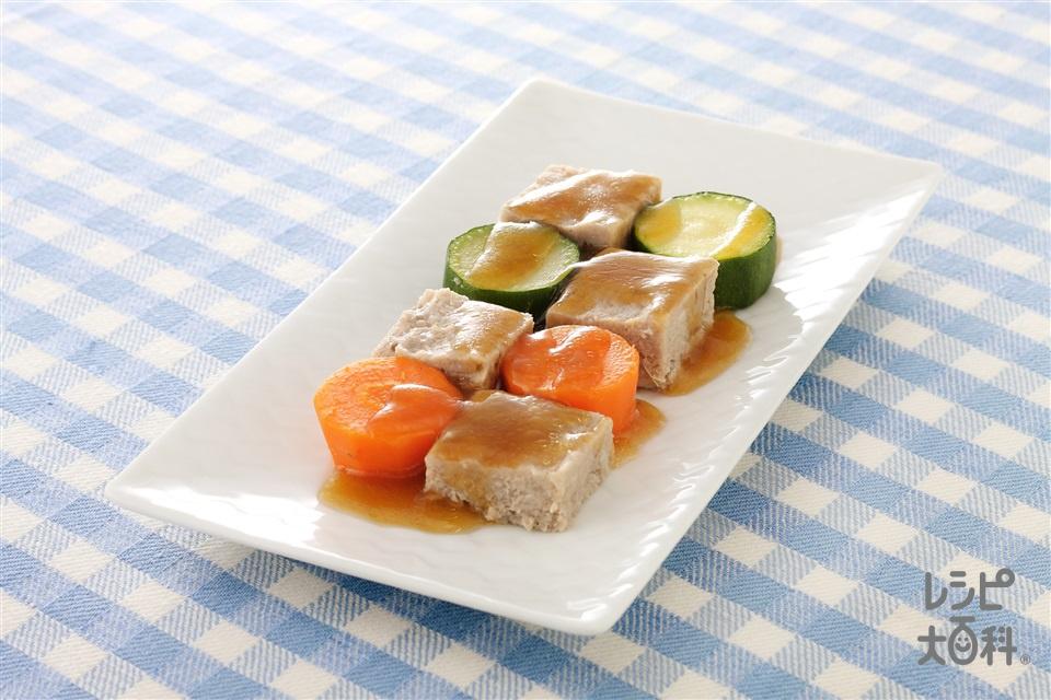 れんこんミートローフ(豚ひき肉+れんこんを使ったレシピ)