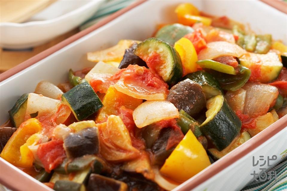 ラタトゥイユ(トマト+玉ねぎを使ったレシピ)