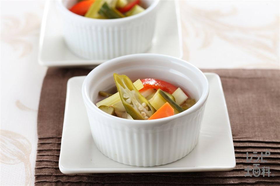 夏野菜のピクルス(にんじん+きゅうりを使ったレシピ)