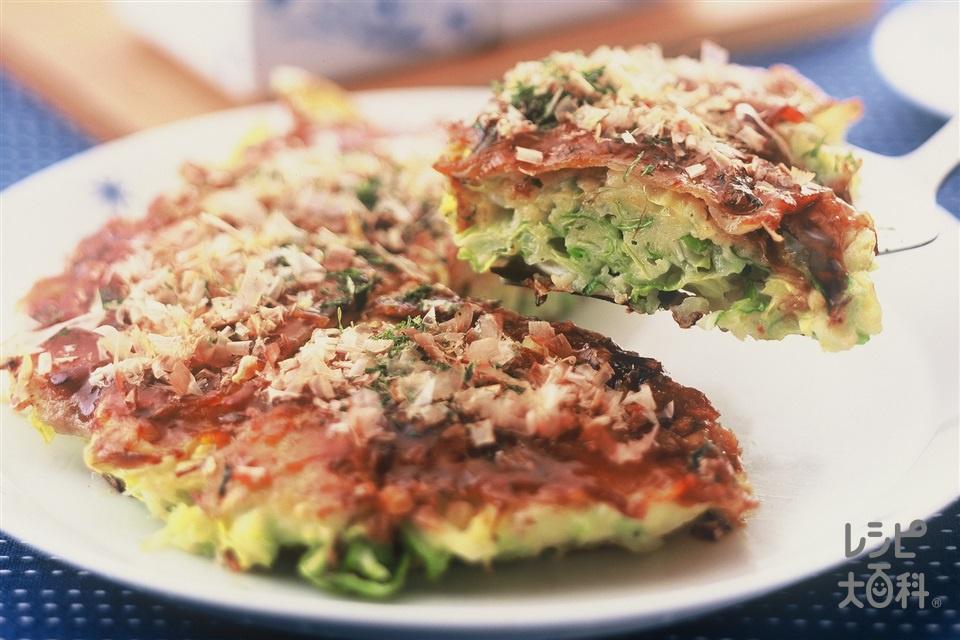 もりもりキャベツのお好み焼き(キャベツ+豚バラ薄切り肉を使ったレシピ)