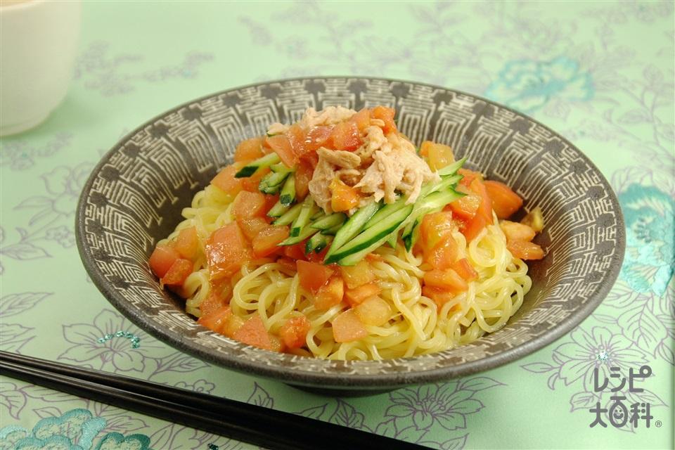 チャイニーズトマト麺(トマト+中華蒸しめんを使ったレシピ)