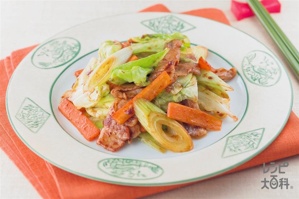 彩り回鍋肉(豚バラ薄切り肉+キャベツを使ったレシピ)