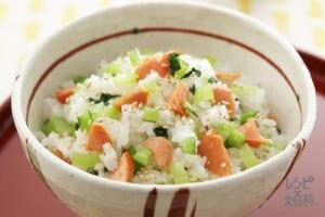 さけと小松菜の混ぜご飯