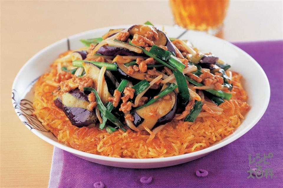 なすともやしの中華風焼きそば(中華蒸しめん+もやしを使ったレシピ)