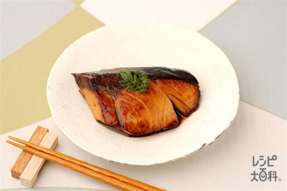 ヘルシーぶりの照り焼き(ぶり(切り身)+A酒を使ったレシピ)