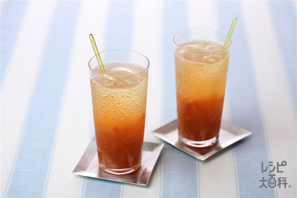 ヘルシーアップルソーダティー(りんご+レモン汁を使ったレシピ)