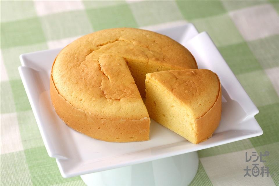 ヘルシースポンジケーキ(卵+ふるった薄力粉を使ったレシピ)