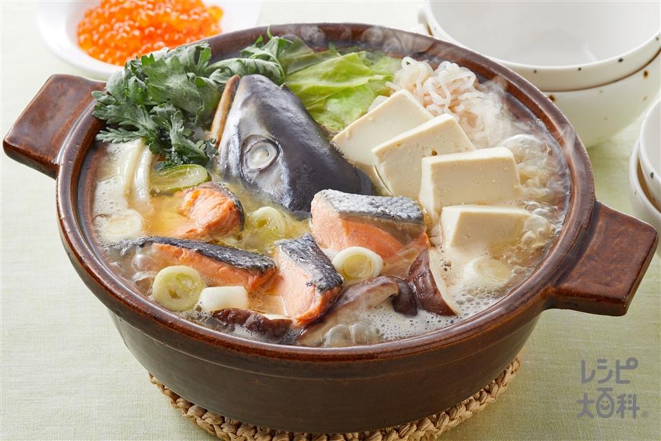 石狩鍋(さけ+さけのアラを使ったレシピ)