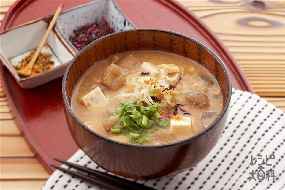 納豆汁(納豆+木綿豆腐を使ったレシピ)