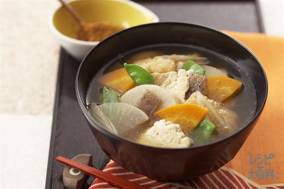 けんちん汁(大根+木綿豆腐を使ったレシピ)