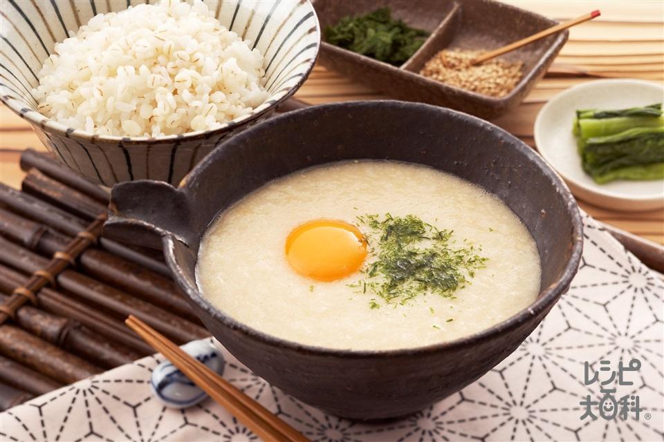 麦とろ飯(米+長いもを使ったレシピ)