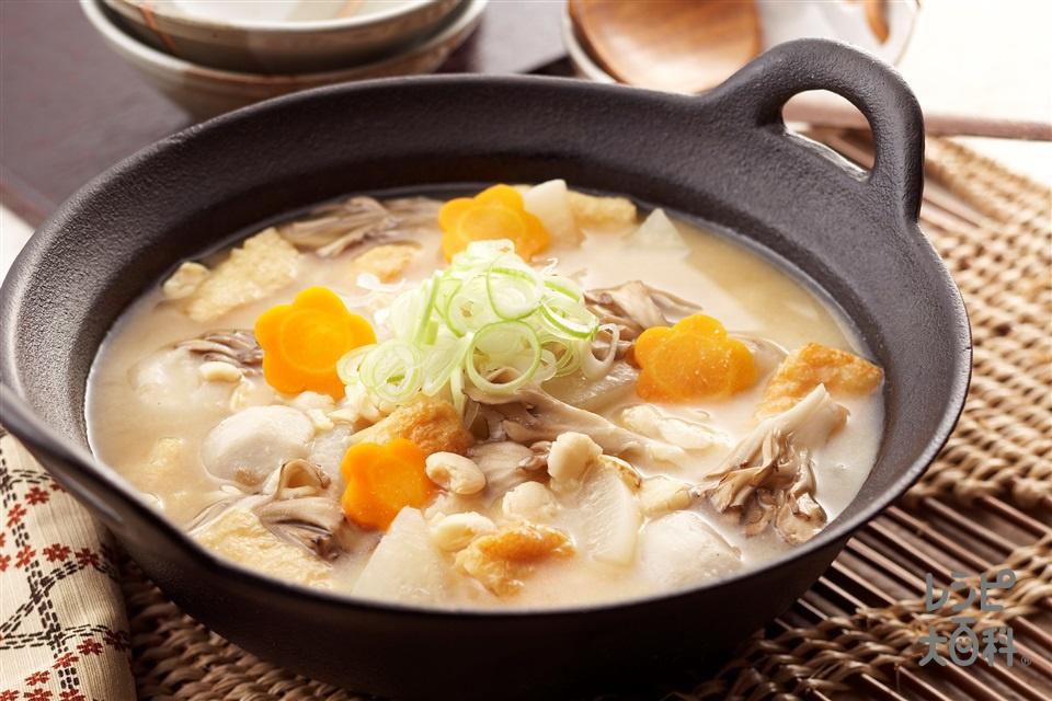 打ち豆汁(大根+里いもを使ったレシピ)