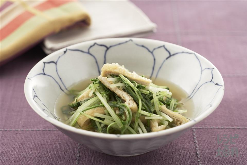水菜のたいたん(水菜+うす揚げを使ったレシピ)