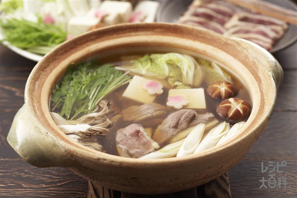 鴨鍋(鴨肉+白菜を使ったレシピ)