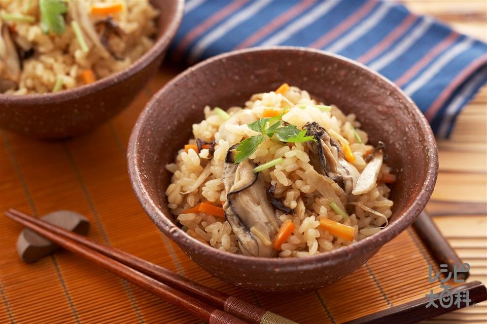 かき飯(米+かき(むき身)を使ったレシピ)