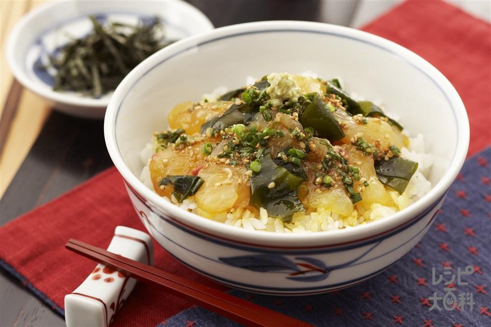 宇和島鯛めし(たい(刺身)+炊きたてご飯を使ったレシピ)