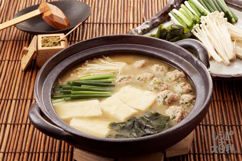 呉豆腐みそ鍋(呉豆腐+鶏ひき肉を使ったレシピ)