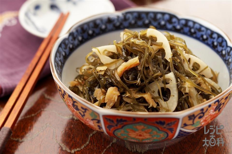 蓮根と野菜昆布の干しだら煮(干しだら+れんこんを使ったレシピ)