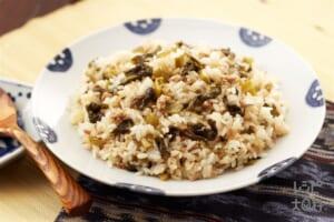 高菜飯(高菜漬け+温かいご飯を使ったレシピ)