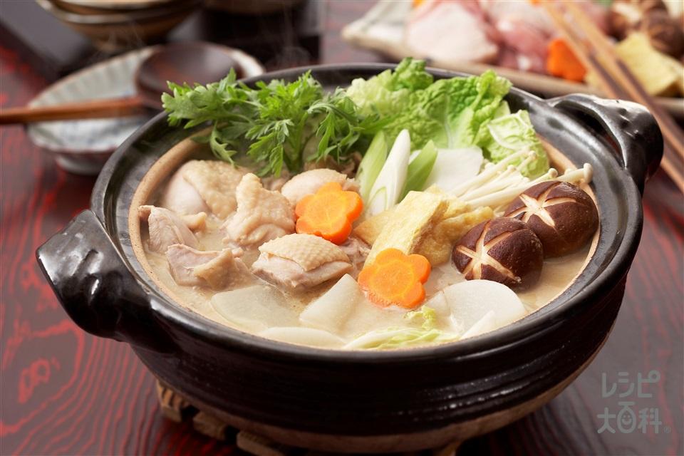 みそ野菜鍋(鶏もも肉+大根を使ったレシピ)