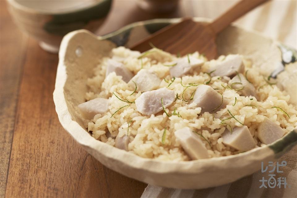 里芋の炊き込みご飯(米+里いもを使ったレシピ)