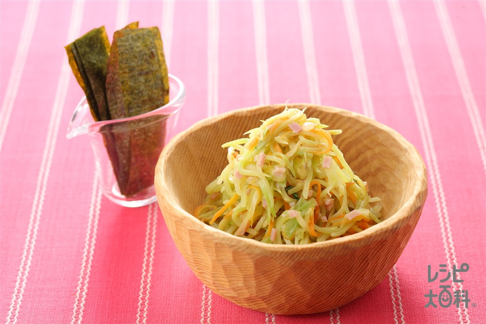 ブロッコリーの茎のコールスロー風(ブロッコリーの茎+プレーンヨーグルトを使ったレシピ)