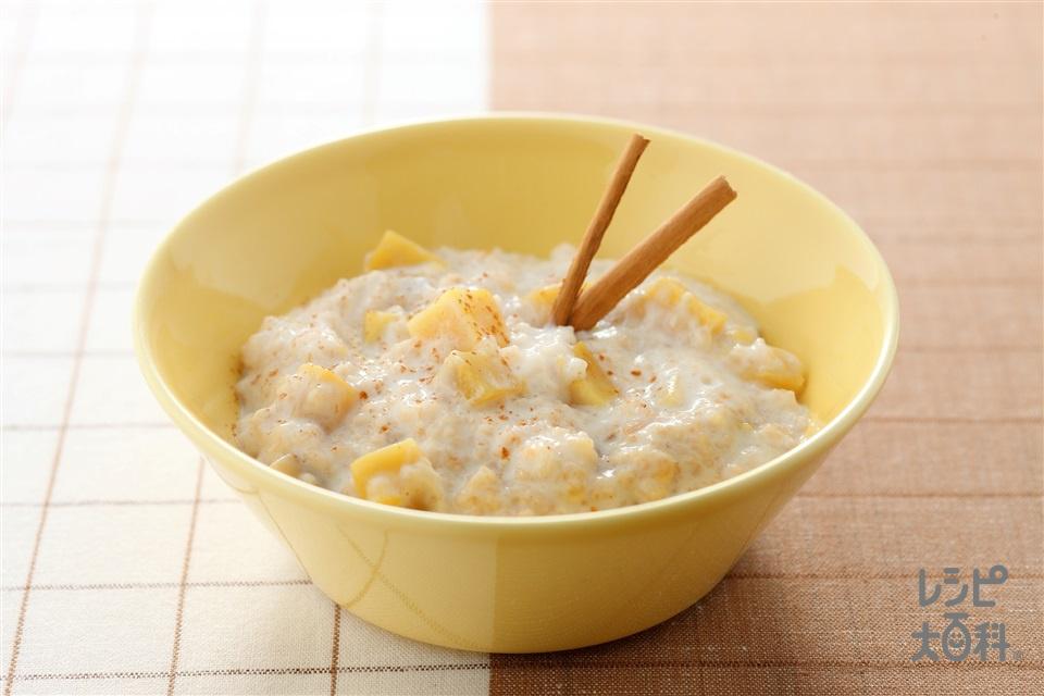 焼き芋入りオートミール(焼き芋+低脂肪乳を使ったレシピ)