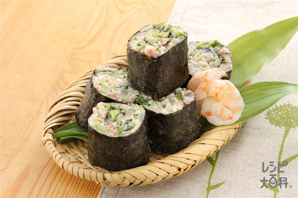ローカロリー海苔巻き(発芽玄米ご飯+プレーンヨーグルトを使ったレシピ)