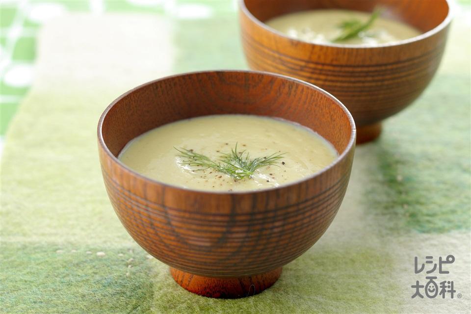 焼き芋のすり流し汁(焼き芋+豆乳(無調整)を使ったレシピ)
