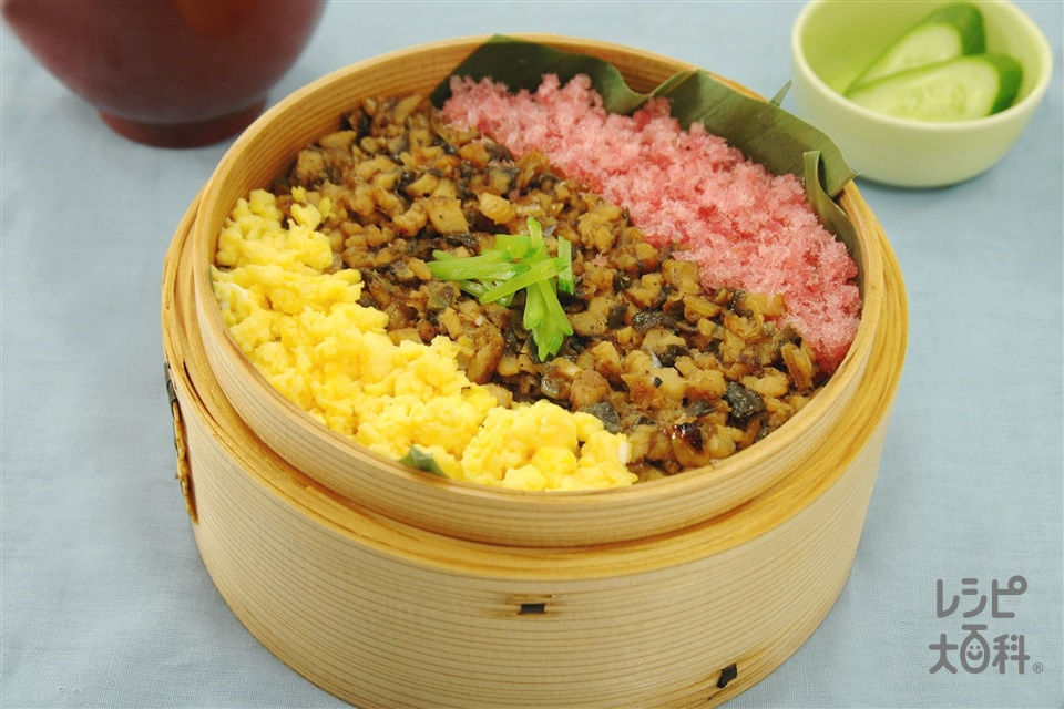 うなぎそぼろのせいろ蒸し(うなぎのかば焼き+ご飯を使ったレシピ)