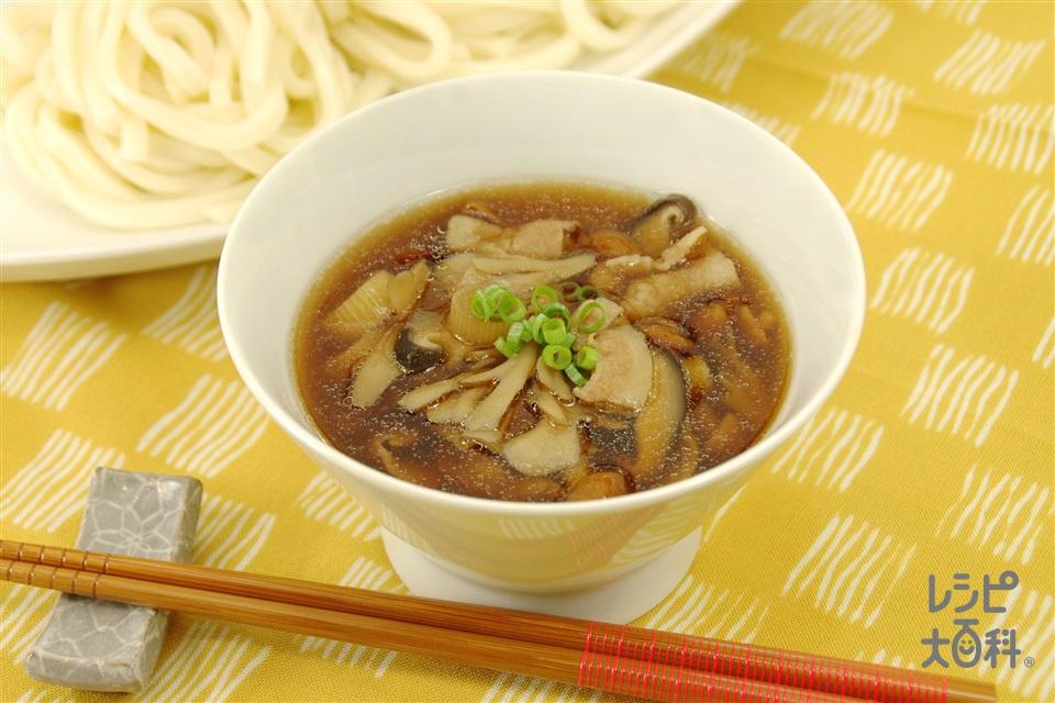 きのこつけ麺(ゆでうどん+なめこを使ったレシピ)