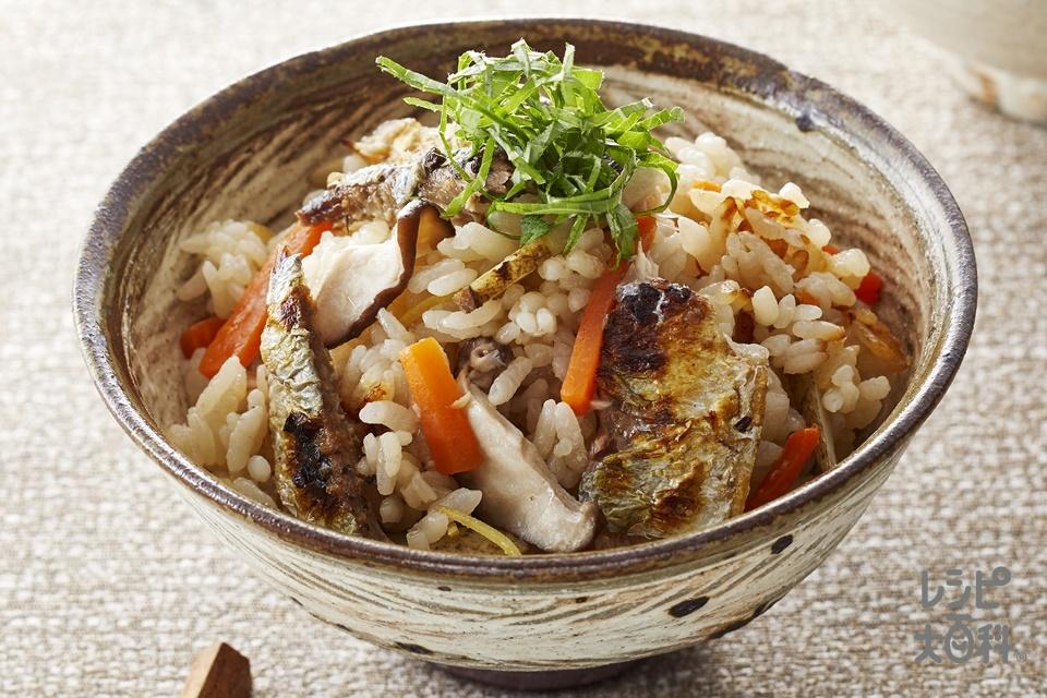 さんまと根菜の炊き込みご飯