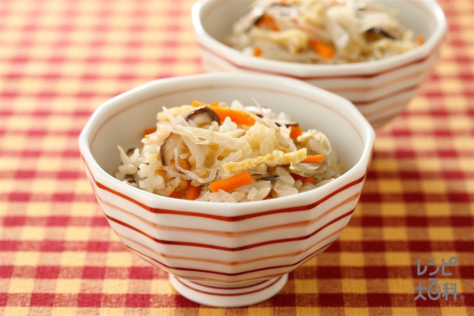 かやくご飯(米+油揚げを使ったレシピ)