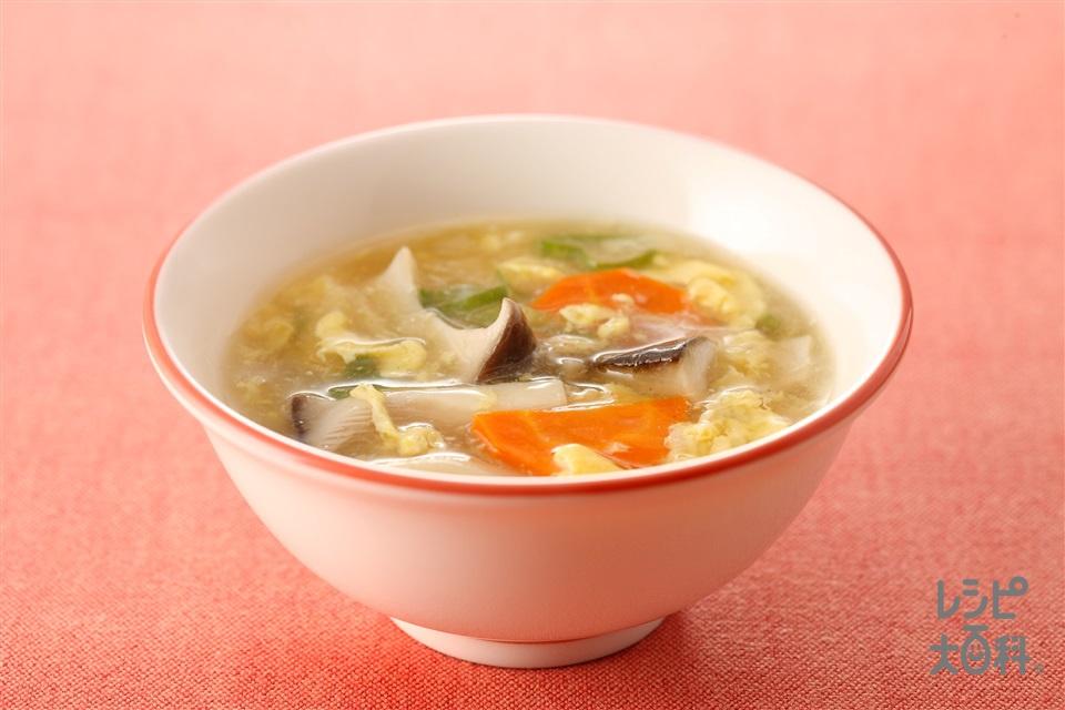 エリンギ入りサンラータン(エリンギ+卵を使ったレシピ)