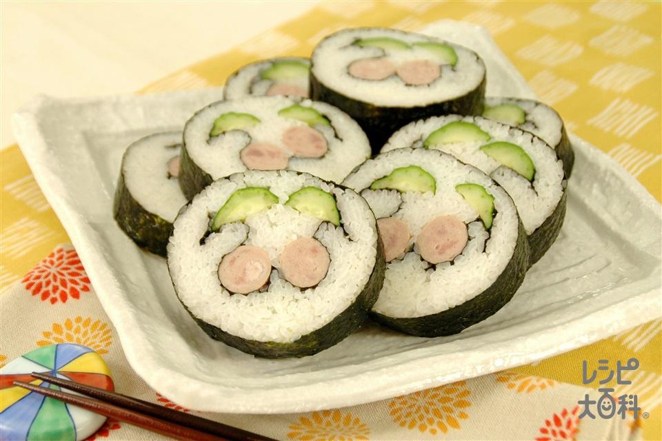 変り巻きずし(さくらんぼ)(米+きゅうりを使ったレシピ)