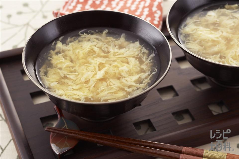 とろとろかき卵汁(卵+片栗粉を使ったレシピ)