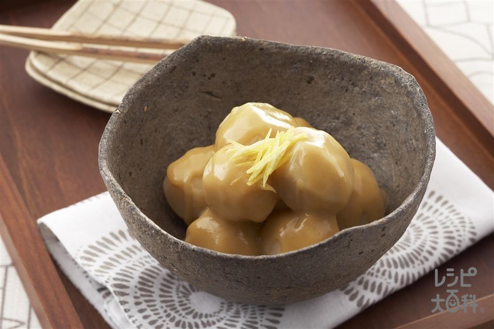 里芋のぼってり白みそ煮(里いも+ゆずの皮を使ったレシピ)